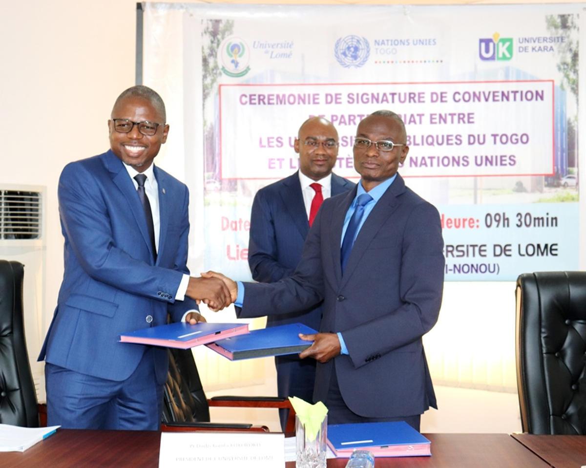 Convention de partenariat entre les Universités Publiques du Togo et le Système des Nations Unies