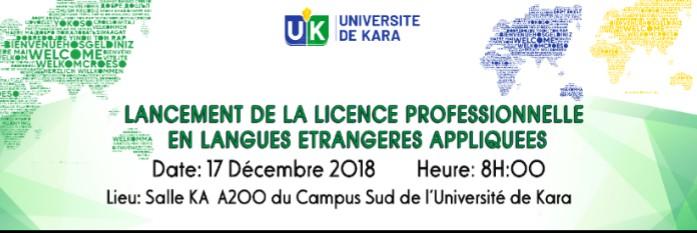 Lancement de la Licence professionnelle en Langues Étrangères Appliquées