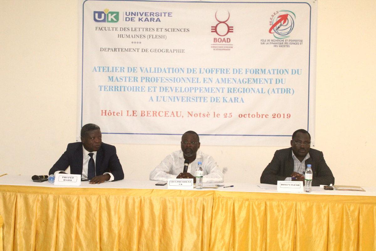 Validation du master en aménagement du territoire et développement régional