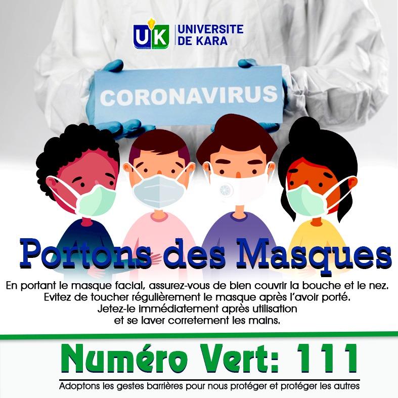 Le Président de l'Université invite au respect des consignes face à la pandémie du COVID-19